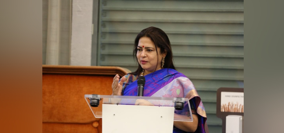 Minister of State for External Affairs and Culture Smt.Meenakashi Lekhi addressed members of International community in Geneva on 75 years of India's Independence
