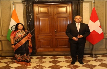 Minister of State for External Affairs and Culture Smt. Meenakashi Lekhi called on the President of the Swiss Confederation H.E. Mr. Guy Parmelin, at Federal Palace, Berne on September 29, 2021