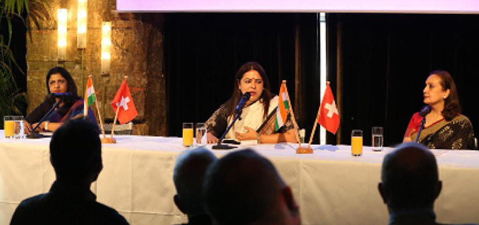 Minister of State for External Affairs and Culture Smt.Meenakashi Lekhi addressed the Annual General Meeting of Swiss-Indian Chamber of Commerce  in Zurich