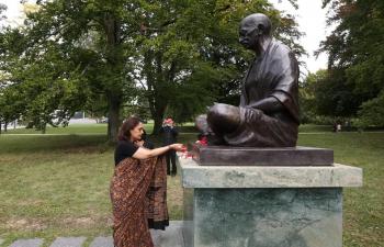 Gandhi Jayanti celebration in Switzerland on 2 October, 2021